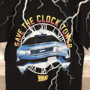 Junk Food  Back To The Future Men's T-Shirt Save The Clock Tower Size S